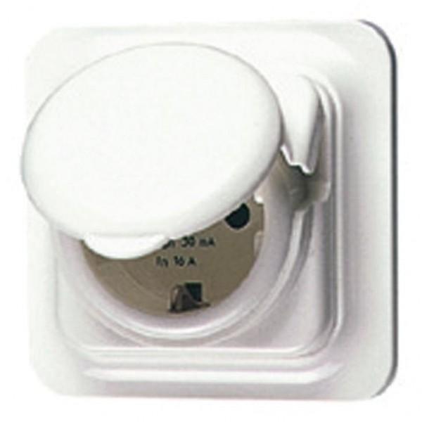 Priza de siguranta pentru montare sub tencuiala 16A 30MA IP44 Gewiss System, GW95924