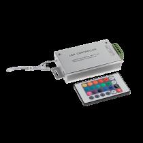 CONTROLER PENTRU BANDA LED RGB CU INFRAROSU 24 BUTOANE 12V 12A