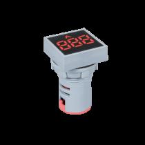 DIGITAL SQUARE AMPEREMETER EL-ED16S AC 0-100A D22mm
