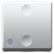 Intrerupator modular cap scara Gewiss GW20589, alb - 2 module