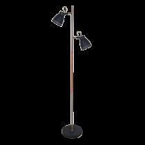 LAMPADAR TOM  2XE27 NEGRU H1550mm