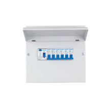 METAL CONSUMER UNIT 8 MOD+ISS 2P/100A