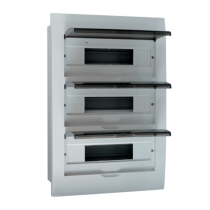 PLASTIC DISTRIBUTION 36 WAY BOX BUILT-IN MOUNTING