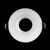 PLASTIC DOWNLIGHT ROUND METAL RING D90mm WHITE