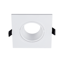 PLASTIC DOWNLIGHT SQUARE 93X93mm WHITE