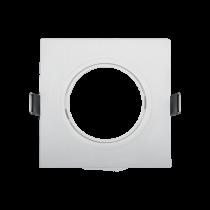 PLASTIC DOWNLIGHT SQUARE METAL RING 90X90mm WHITE