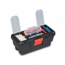 "PLASTIC TOOL BOX WITH ORGANIZER 13"""