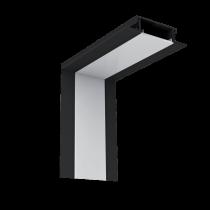 PROFIL COLT INTERIOR LED INCASTRAT NEGRU S48